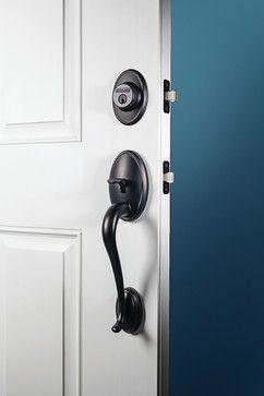 Schlage Wakefield Handleset In Aged Bronze Modern Windows And