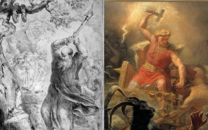 Thor, St Boniface, and the Origin of the Christmas Tree Saints