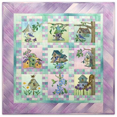 Art Quilt Pattern ~ HOME TWEET HOME ~ Directions for Finishing  by McKenna Ryan #PineNeedlesMcKennaRyan