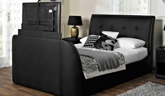 Galaxy Faux Leather TV Bed Frame - OUR NEW BED