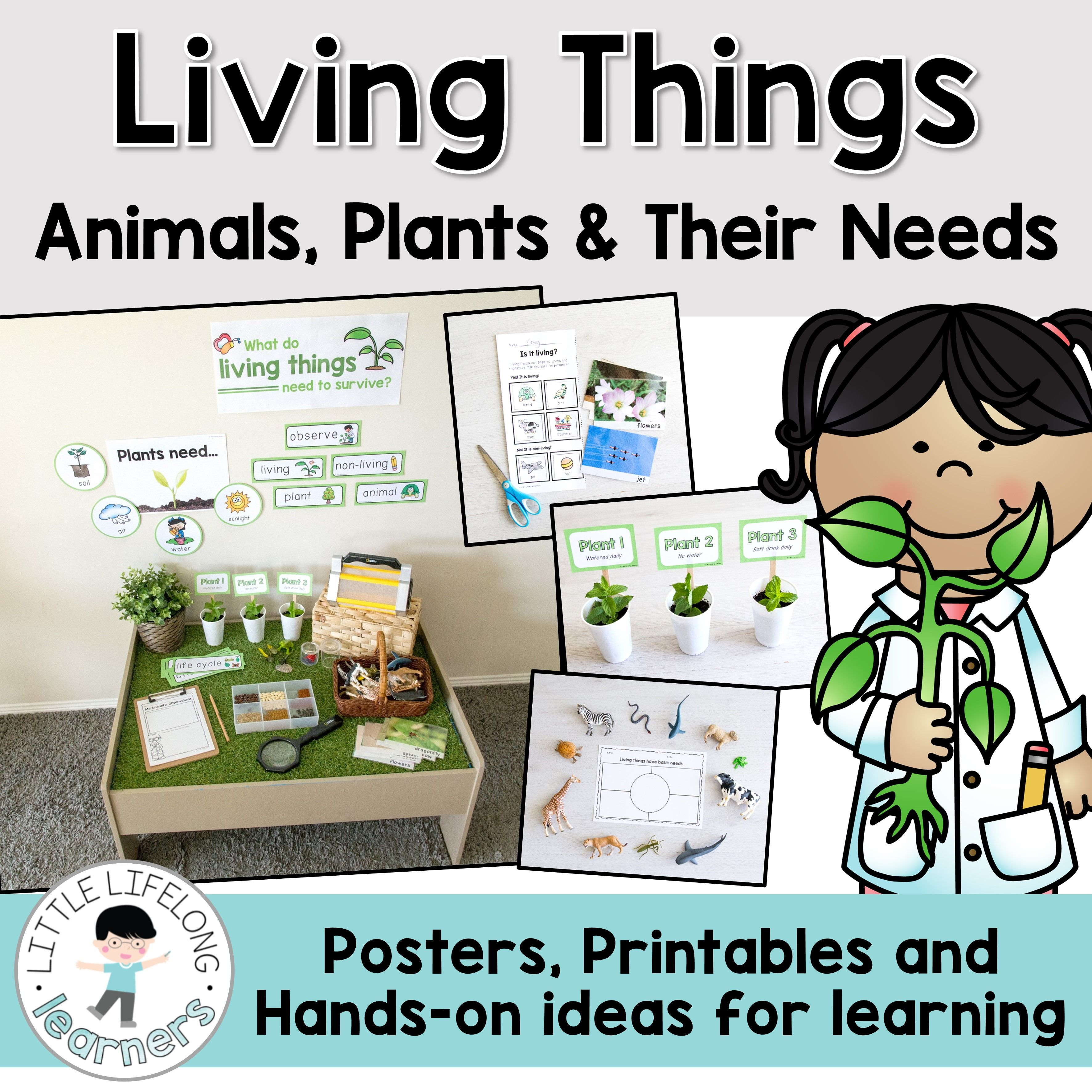 living things animals plants and their needs science social studies science activities. Black Bedroom Furniture Sets. Home Design Ideas