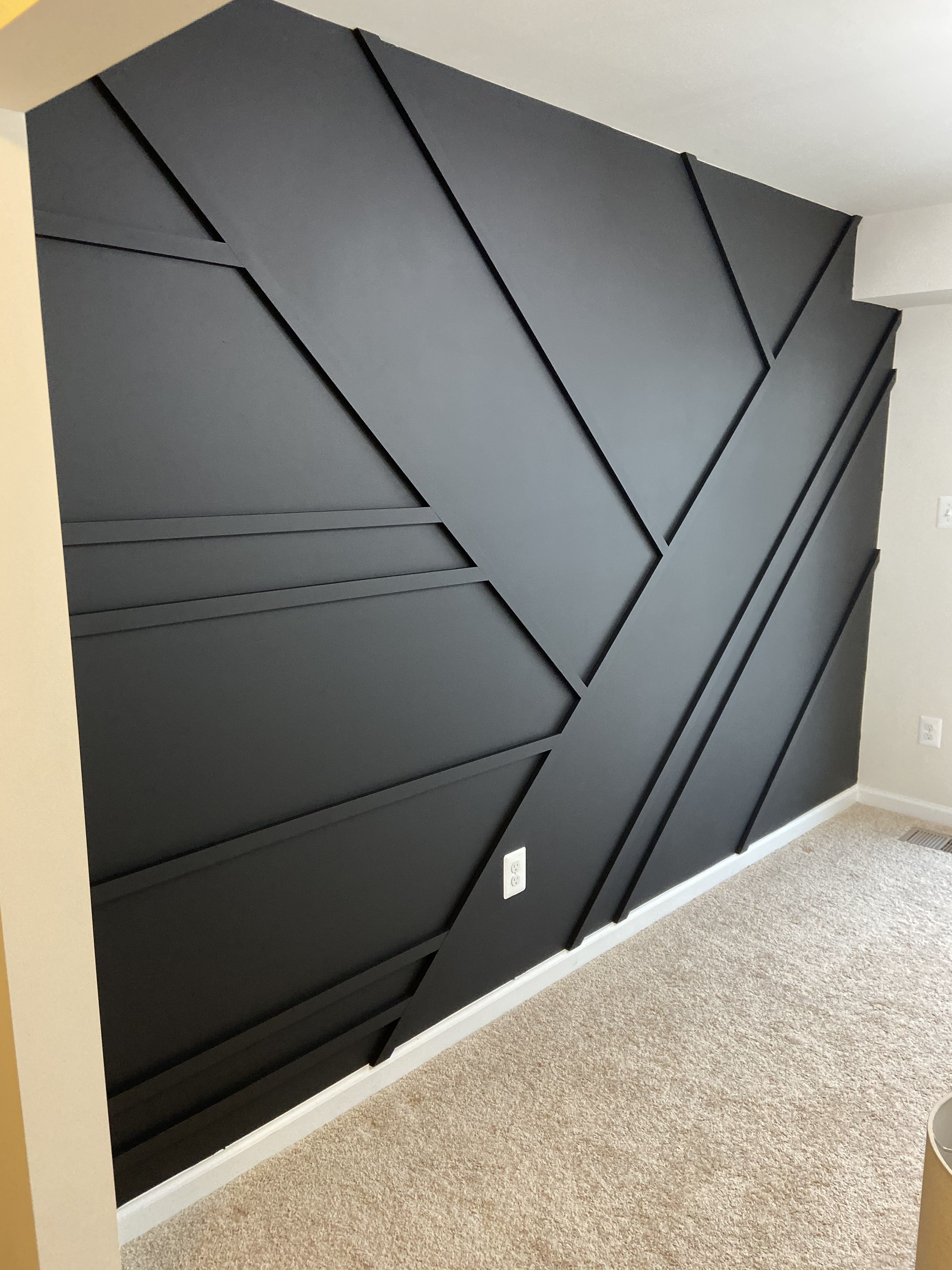 Abstract Black Matte Accent Wall Accent Walls In Living Room Bedroom Wall Designs House Design
