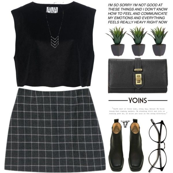 A fashion look from August 2015 by alienbabs featuring Ava Catherside, Acne Studios, clean, organized and yoins