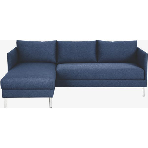 The Hyde Blue Fabric Left Arm Chaise Sofa Delivers High Comfort With Slender Proportions Now At Habitat Uk