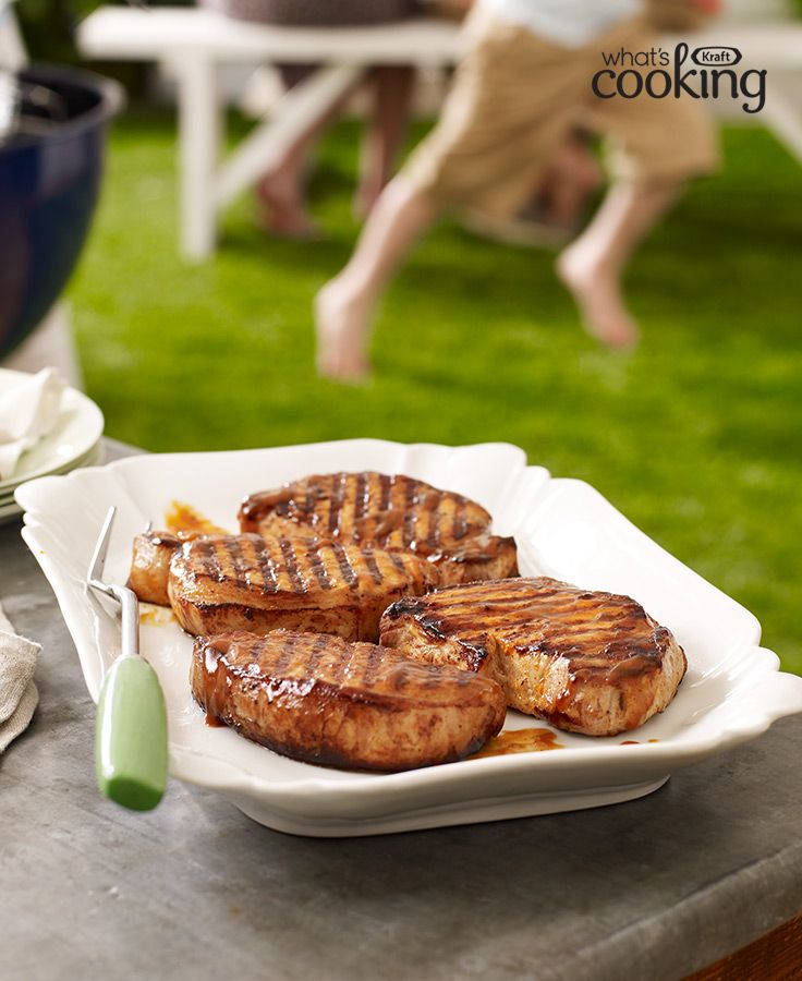 Saucy Grilled Pork Chops #recipe
