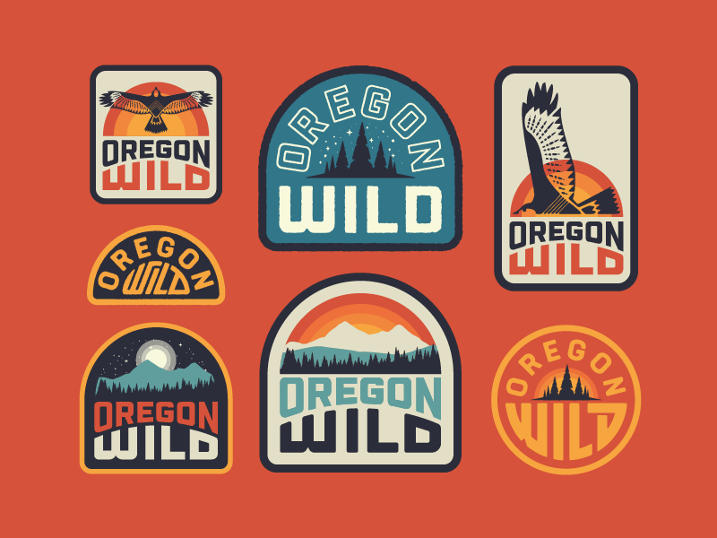 Oregon Wild Badge Design Vintage Logo Design Graphic Design Inspiration