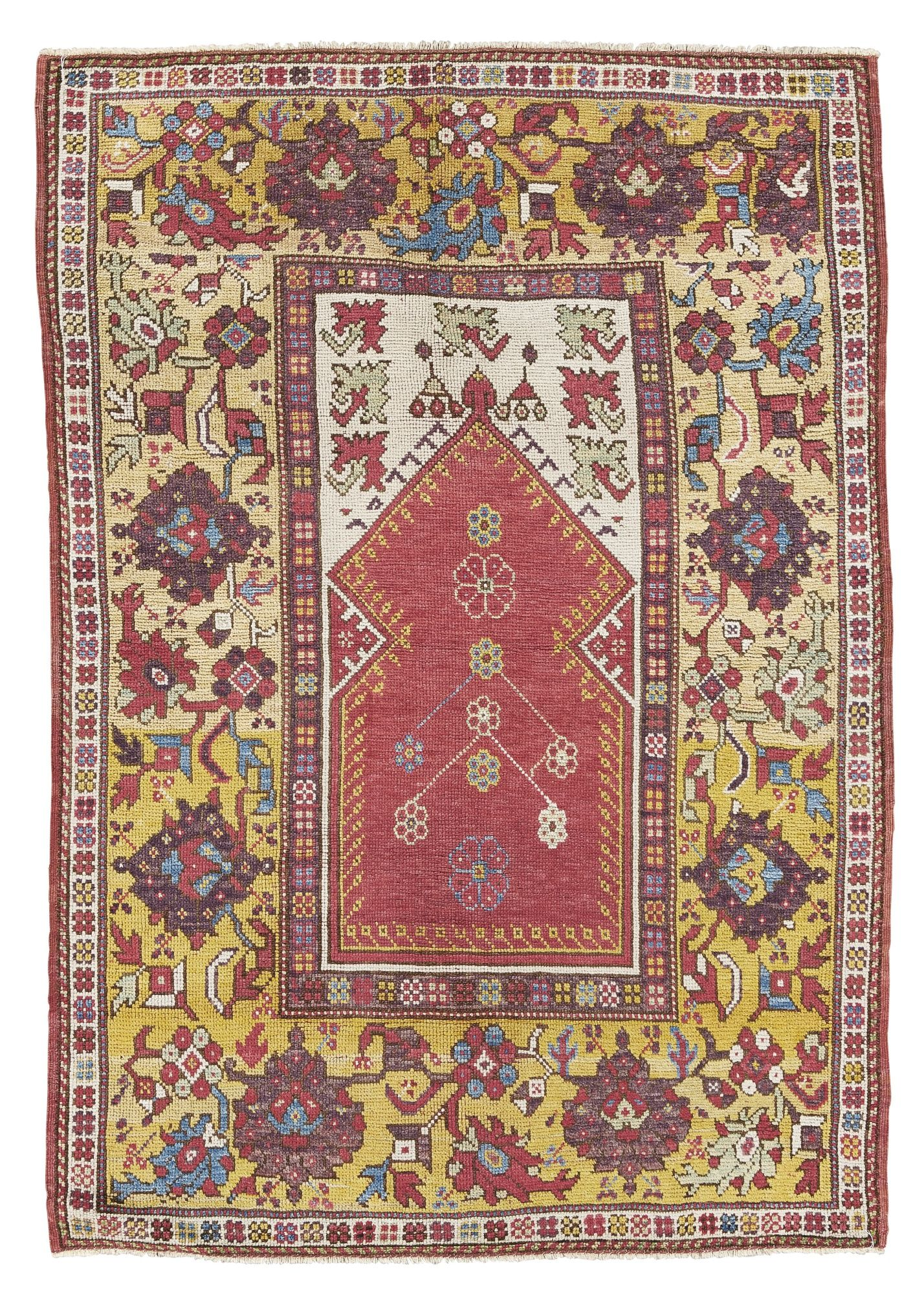 Melas Prayer Rug Southwest Anatolia Approximately 145 By 102cm 4ft 9in 3ft 4in Circa 1800 Tappeti