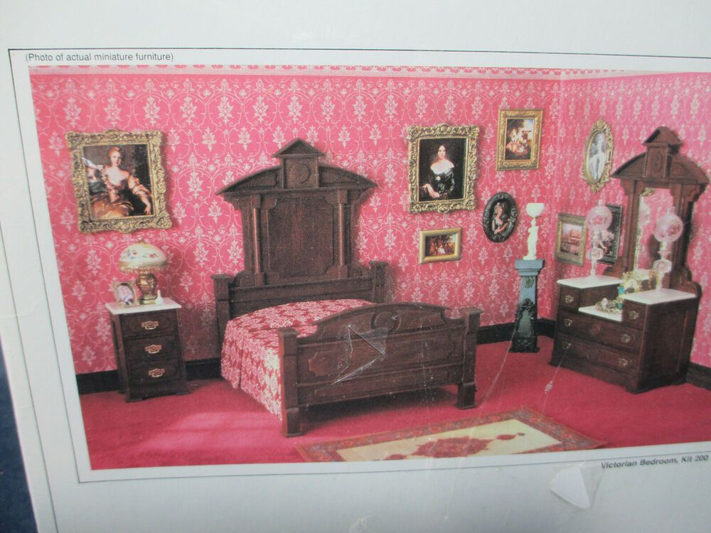 Sealed Realife Miniatures Wood Furniture Kit Heritage Series Victorian Bedroom