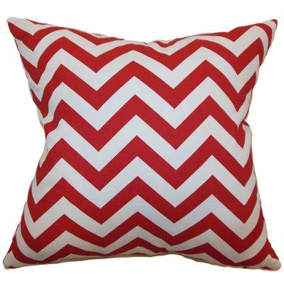 Photo of Latitude Run Bournon Zigzag Bedding Sham Size: Standard, Color: Lipstick White