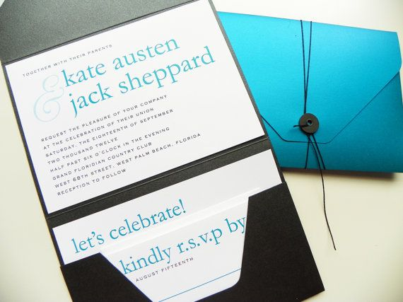 Pocketfold wedding invitations modern names premium string tie invitation ideas stopboris Images
