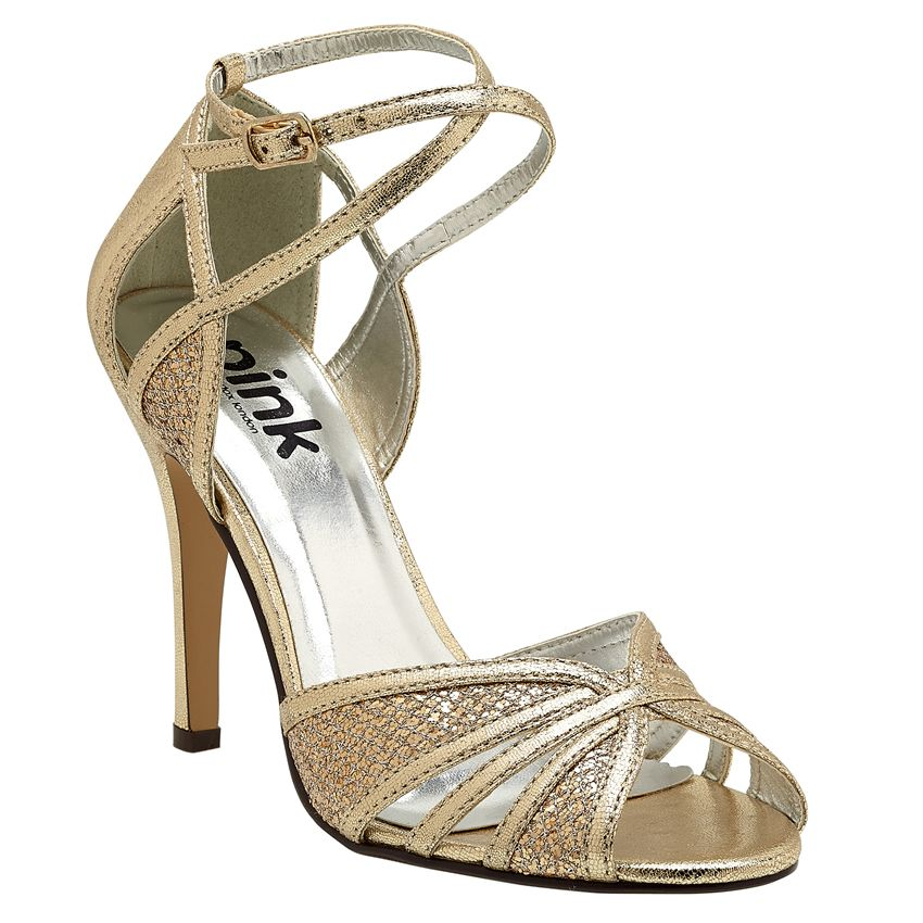 Sasha Gold Occasion Shoes By Pink Paradox London