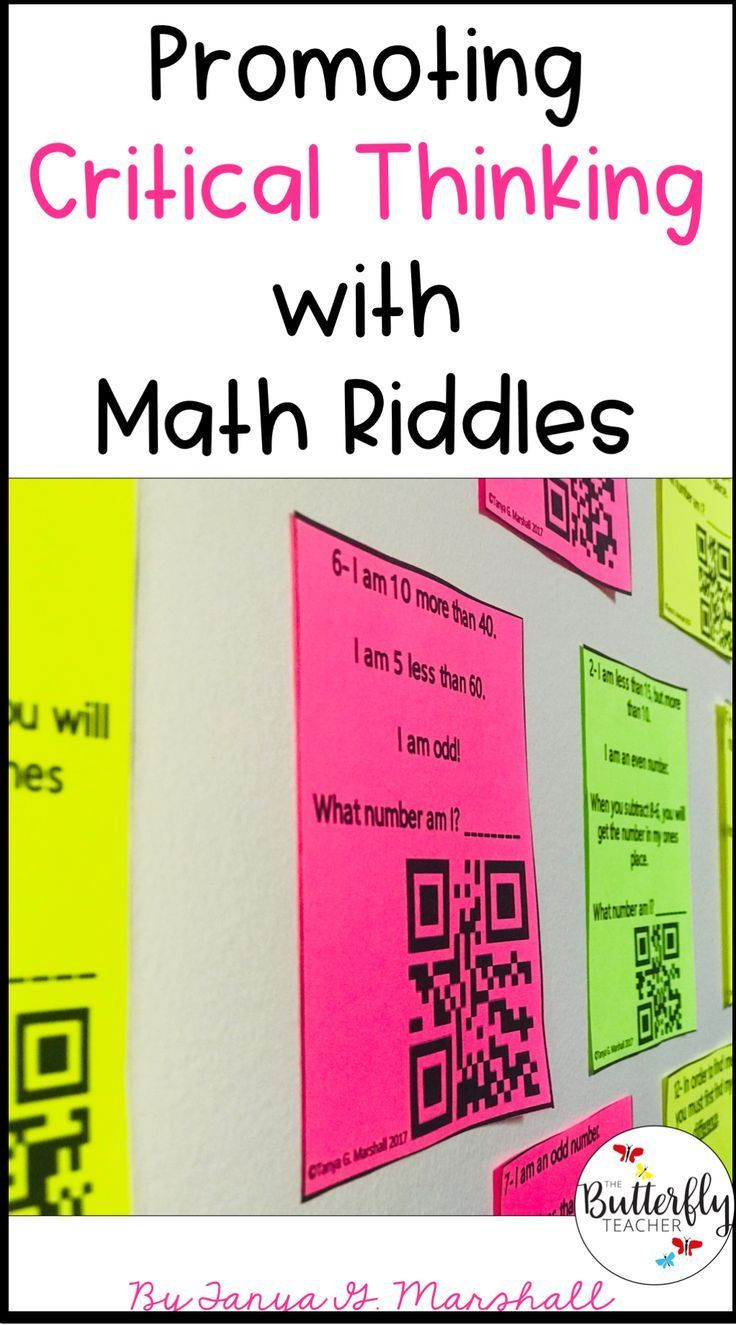 Promoting Critical Thinking with Math Riddles Math