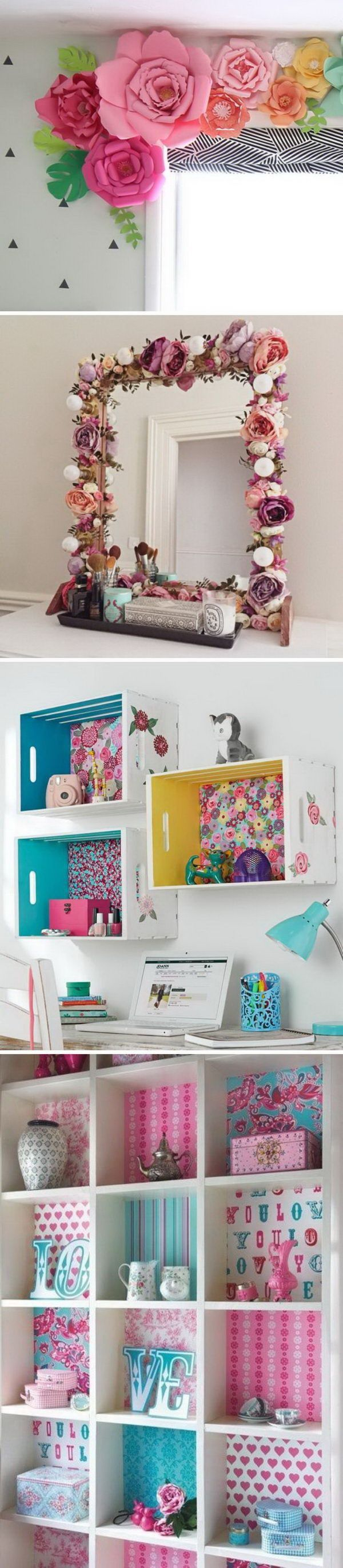 20 Awesome Diy Projects To Decorate A Girls Bedroom 2019 20 Awesome Diy Projects To Decorate A Girls Be Bedroom Diy Room Diy Apartment Decorating For Couples