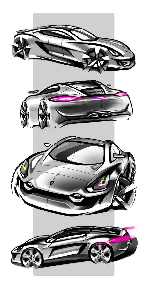 Porsche cayman sketch by tigran lalayan torino italy - Croquis voiture ...