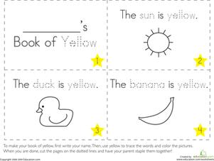 preschool colors fine motor skills letters worksheets the color yellow - Color Worksheets For Preschoolers