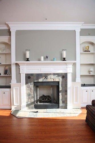 White Brick Fireplace Surround