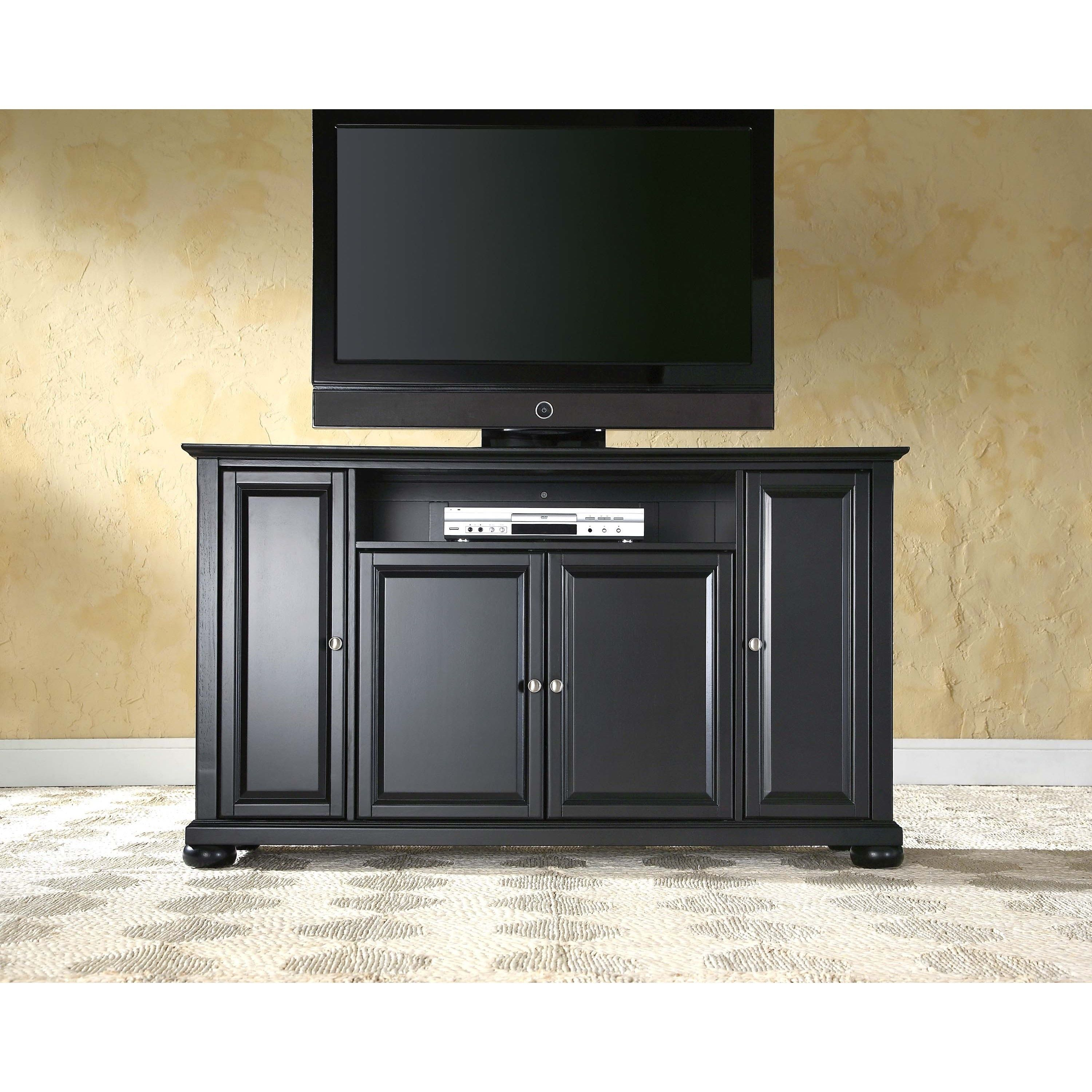 60 Pouces Crosley Furniture Alexandria Black Finish Wood 60 Inch Tv Stand
