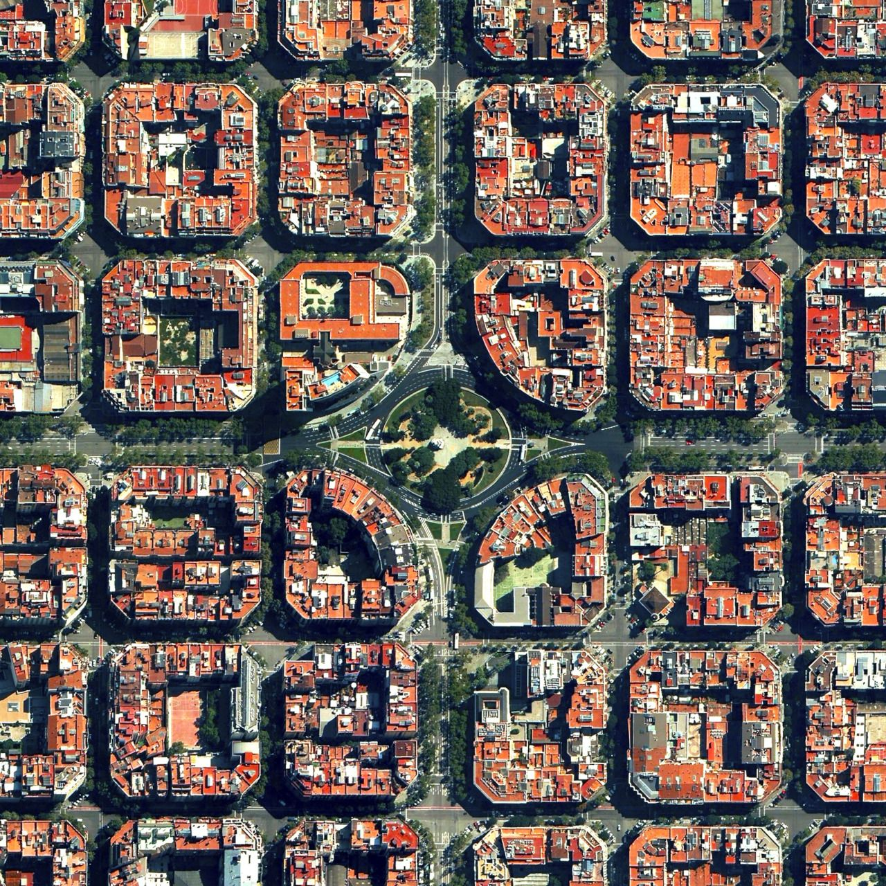 Eixample District In Barcelona Urban Patterns Pinterest Site - Barcelona map eixample district