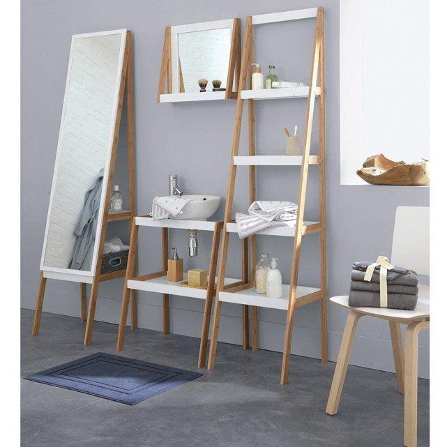 meuble sous lavabo 2 tag res lindus esprit scandinave les salles de bain et la salle. Black Bedroom Furniture Sets. Home Design Ideas