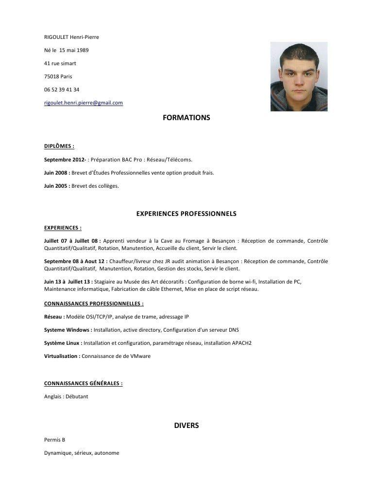 Cv Type Chauffeur Livreur Cv Anonyme Modeles De Lettres Lettre De Motivation Lettre De Motivation Gratuite