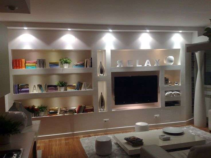 Idee pareti soggiorno in cartongesso pareti soggiorno for Decorazioni per pareti soggiorno