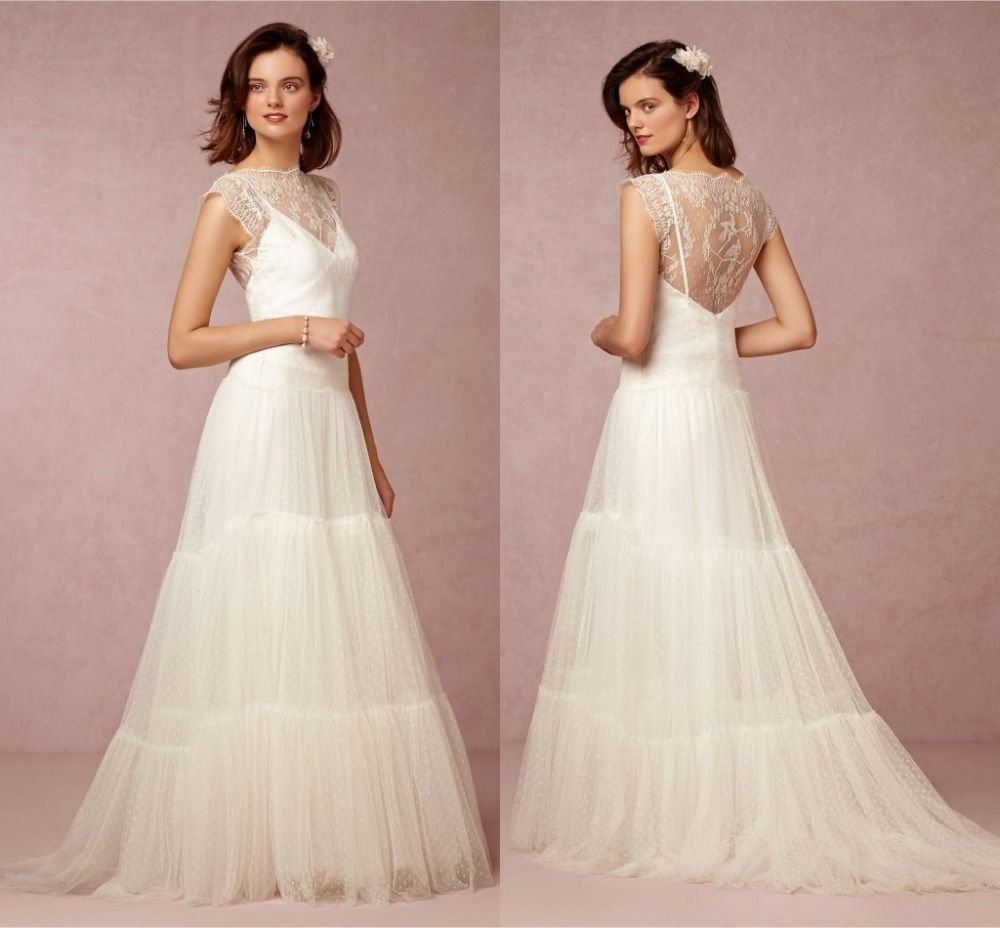 Click to buy ucuc spring lace wedding dresses plus size a line
