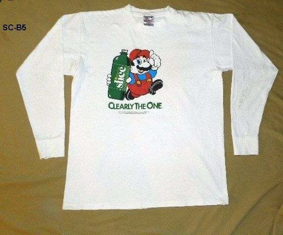 Vintage Super Mario Pepsi Slice (1984-2000) White Tee Shirt Sz XL Made in USA
