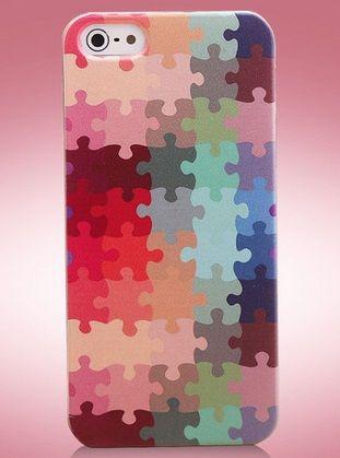 Colourful Θήκη Πολύχρωμη Deluxe Puzzle (iPhone 5/5s) - myThiki.gr - Θήκες Κινητών-Αξεσουάρ για Smartphones και Tablets - Puzzles