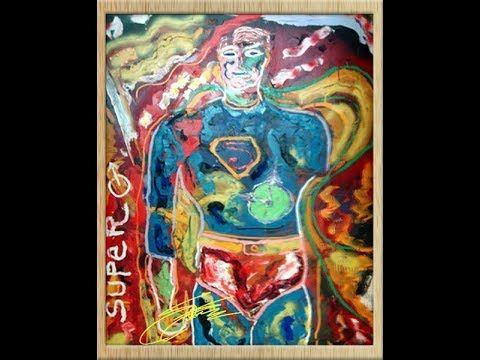 SUPERMAN – signed Pop-art by Sylvester Stallone.   Exclusively from Hollywood: One of the most original artworks created by the  famous Hollywood star, who is as successful as a painter! Questions? SMS me:  (+ 49-151) 2094-9859 Deutsch-sprechendes Publikum: www.promisunddu.info