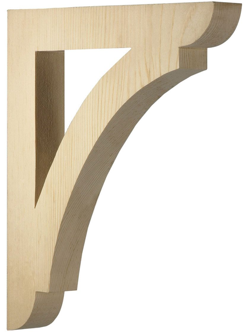 Corbels and Brackets. Large Pine Shelf or Porch Bracket 12