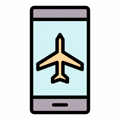Airplane Mobile Mode Icon Download On Iconfinder Flat Design Icons Icon Mobile App