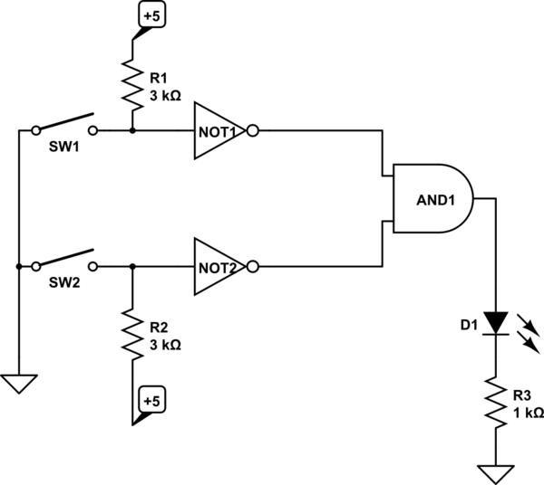 using integratedcircuit logic gates
