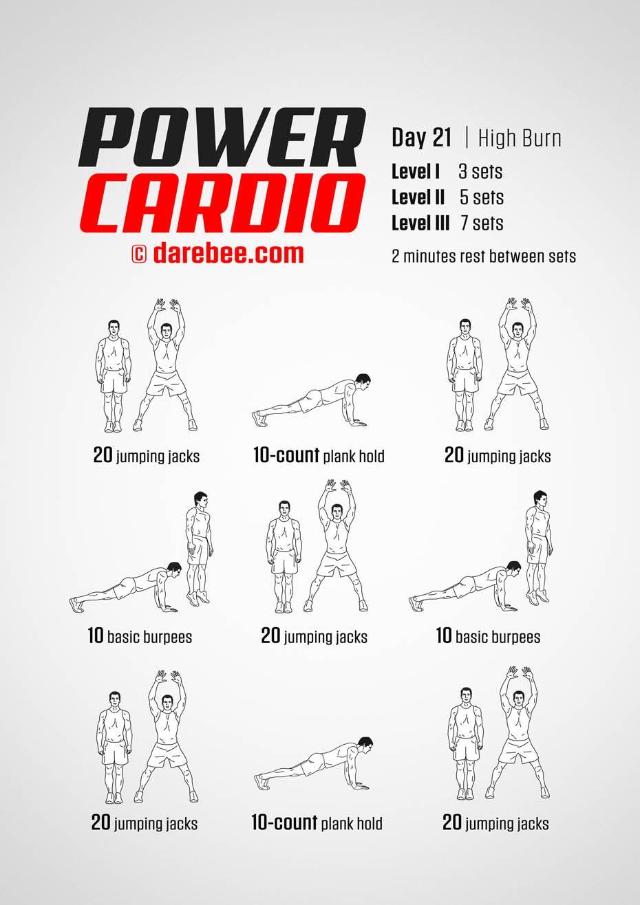 Power Cardio Workout Beginner Cardio Workout Aerobics Workout Cardio Workout At Home