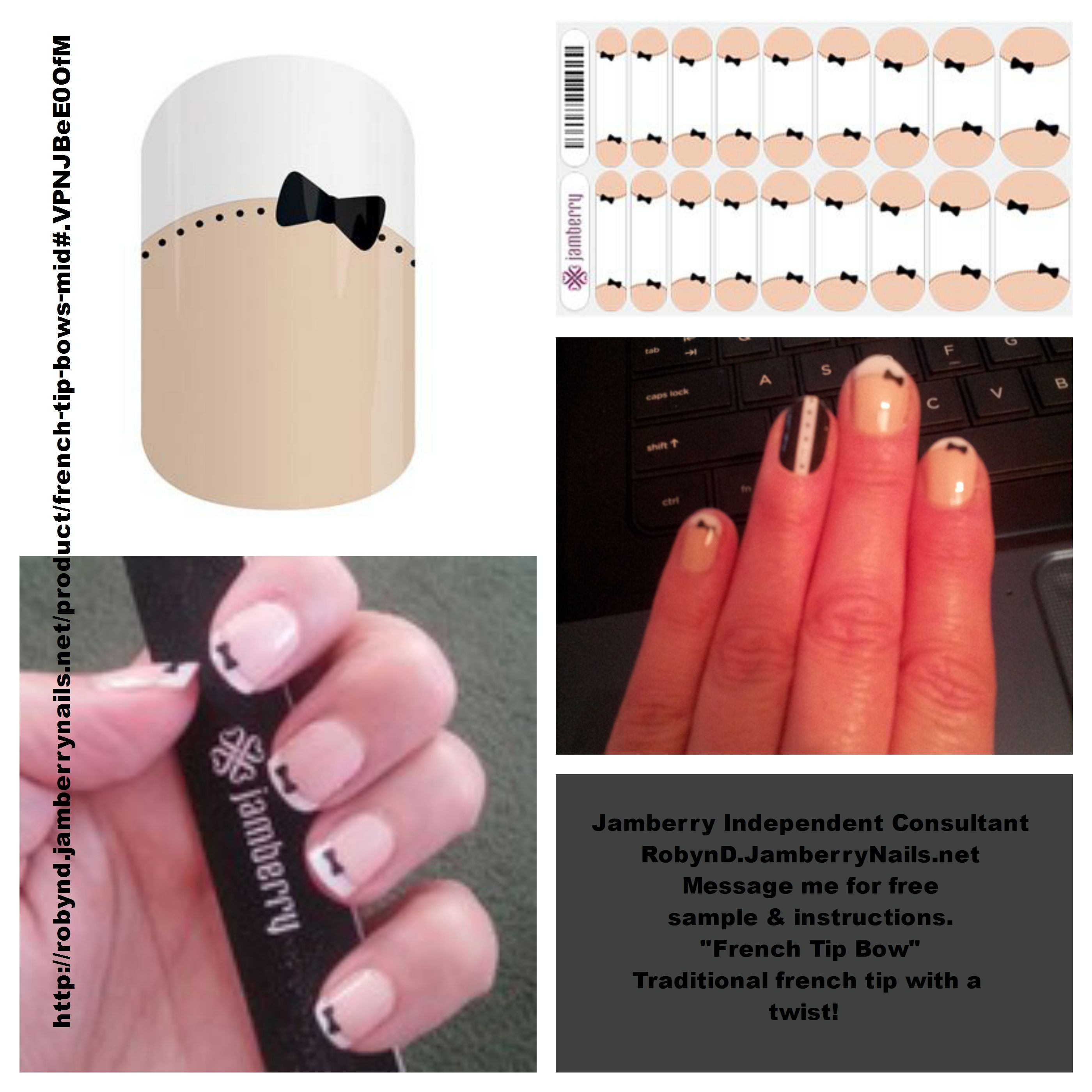 French tips with a twist! Put a bow tie on it and enjoy all the ...