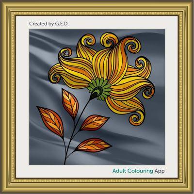 #adultcoloring #adultcoloringbook #adultcoloringbookapp #flowers #flora #floral #flowerart #flowercoloring