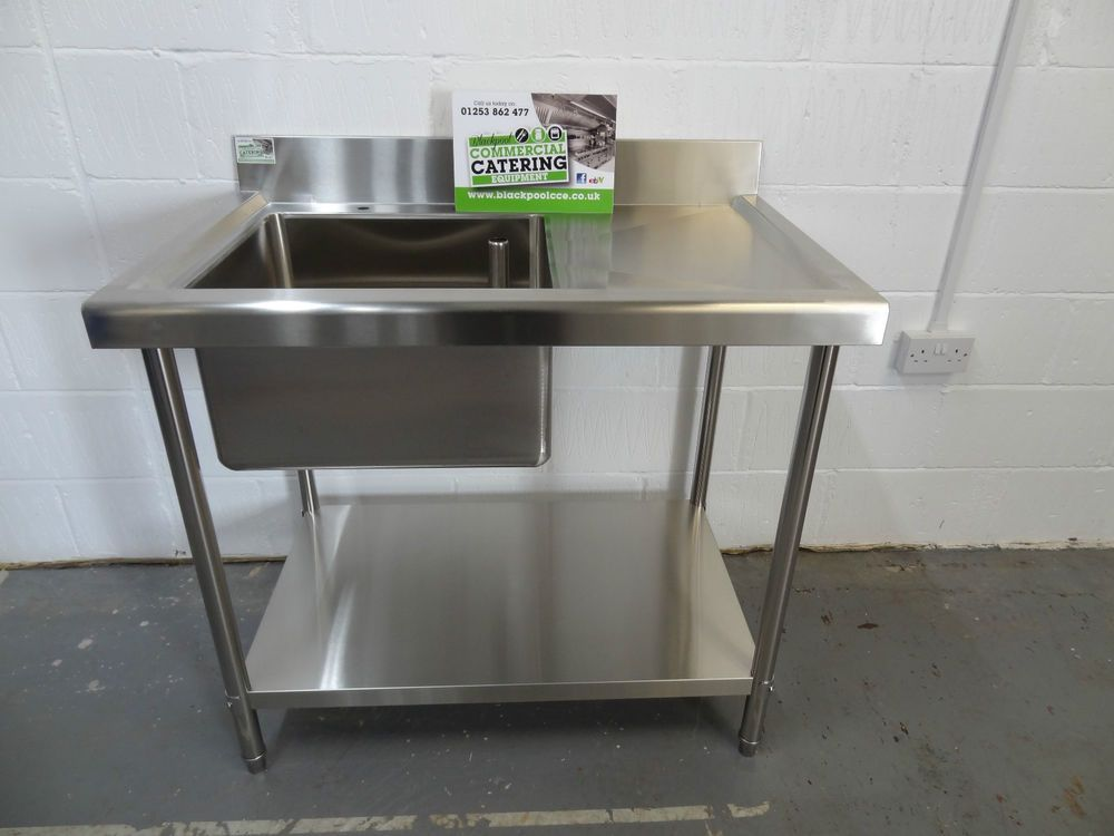 CATER PRO COMMERCIAL CATERING 1M 1000MM SINGLE BOWL