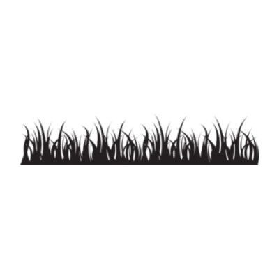 """Style and Apply Grass Wall Decal Size: 18"""" H x 79"""" W, Color: Royal Blue"""