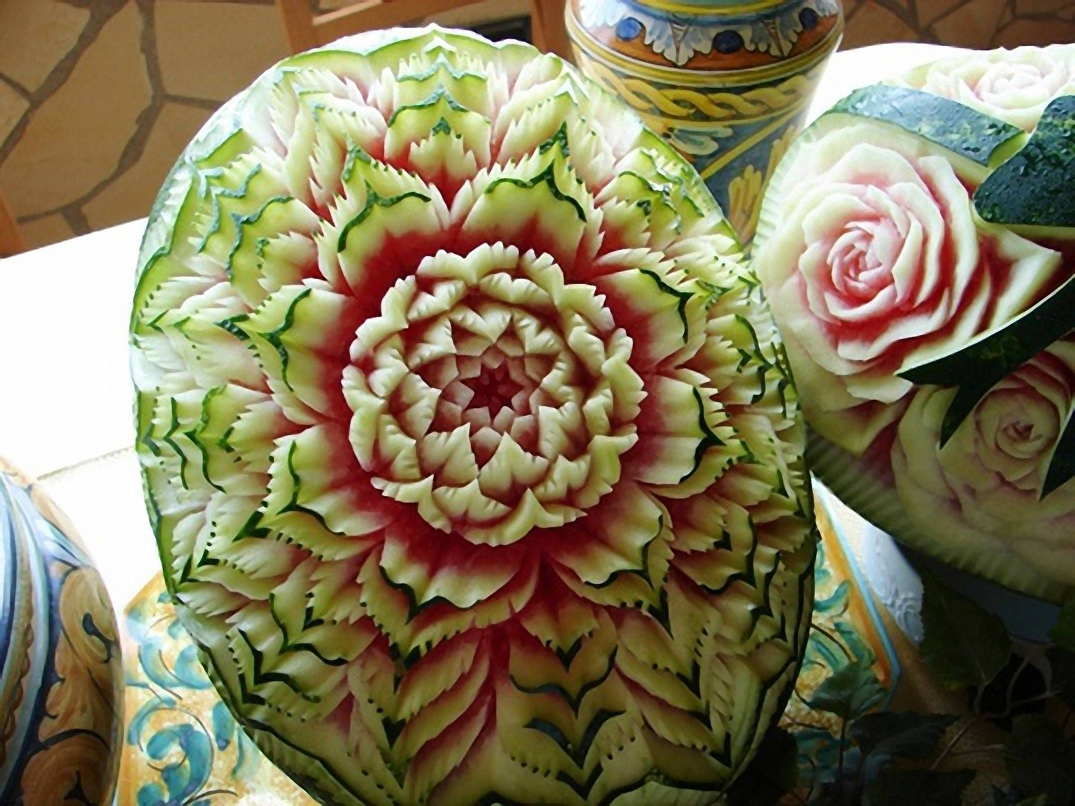 Sandias Decoradas Watermelon Art Platillos Pinterest
