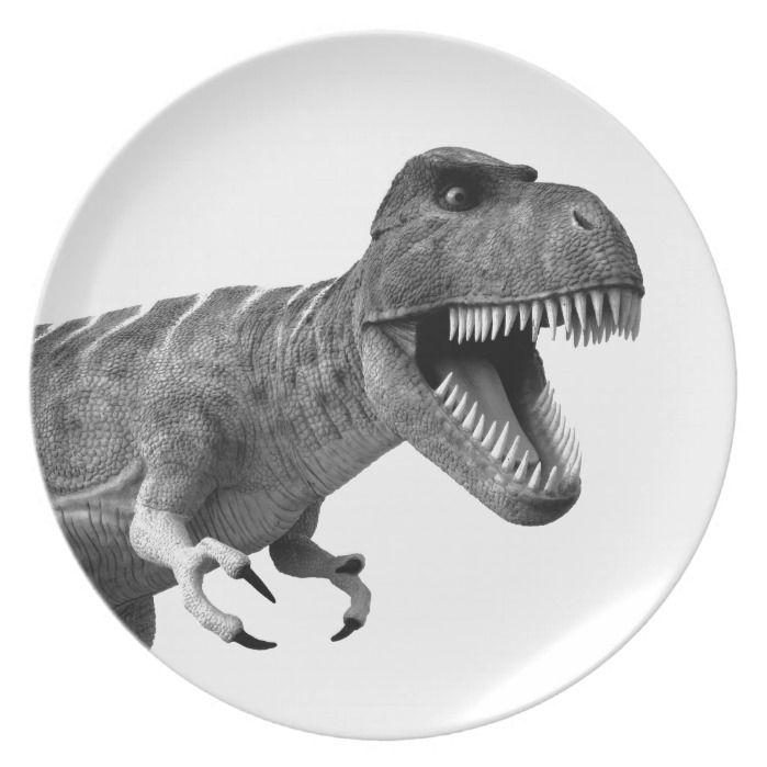 Tyrannosaurus Rex Plate | Zazzle.com #tyrannosaurusrex
