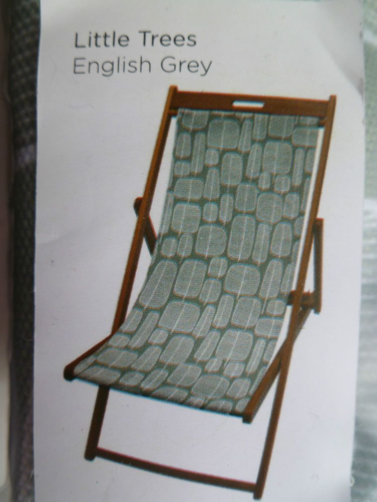 Deck Chair Sling Replacement Low Back Lawn Missprint Cover Seat Grey Little Trees John Lewis