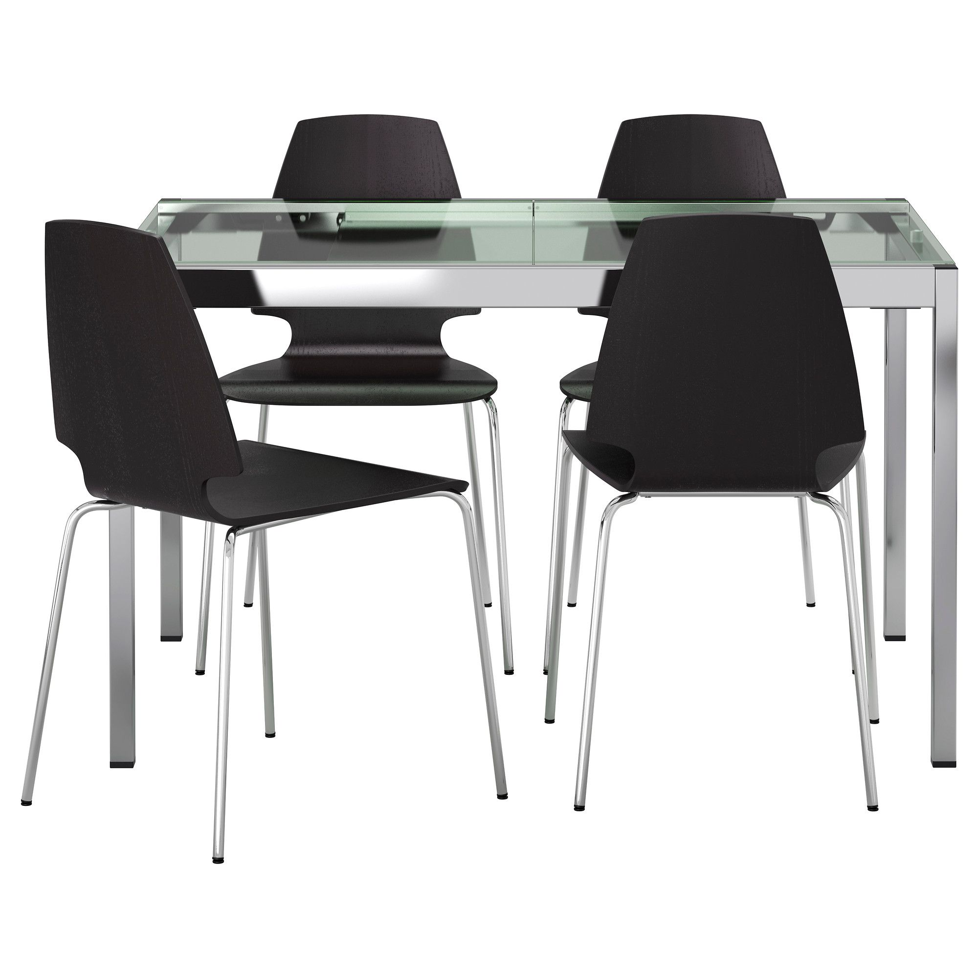 Ikea glass kitchen table - Glivarp Vilmar Table And 4 Chairs Ikea 455 Would Work For A Small Glass Top Dining