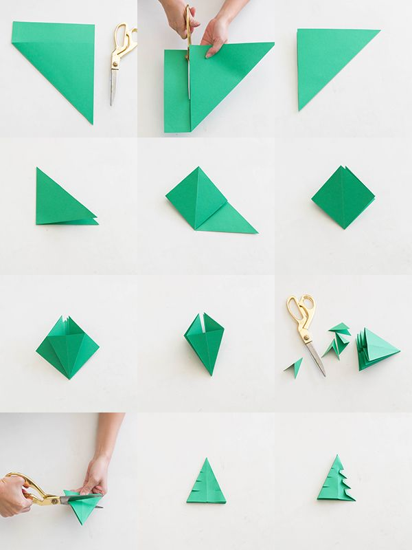 Origami Christmas Trees   Projects to Try   Pinterest   Basteln für ...