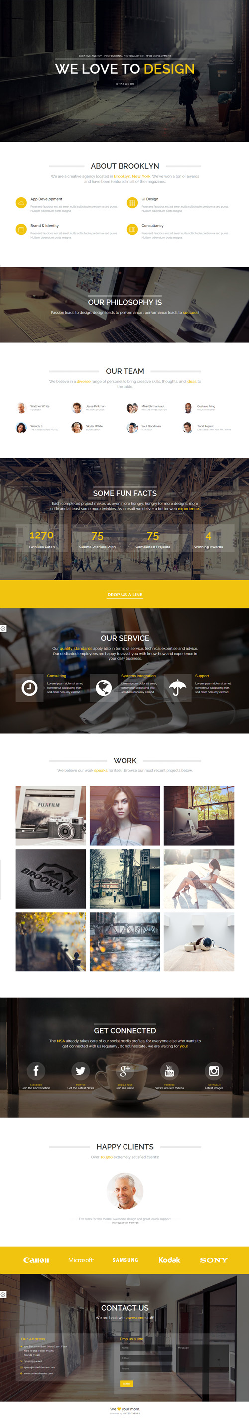 Brooklyn - Creative Portfolio Page HTML Template #html5templates ...