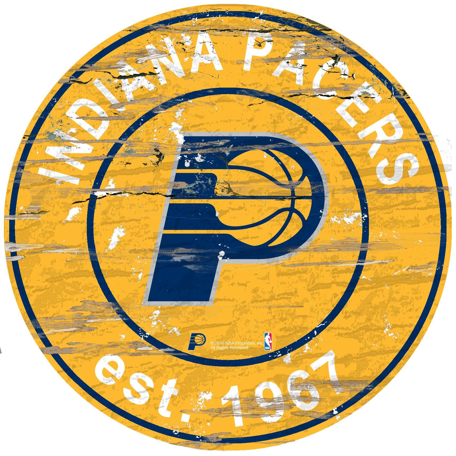 size 40 f21ca f3a75 Indiana Pacers Sign Wood 24 Inch Round | Products | Indiana ...