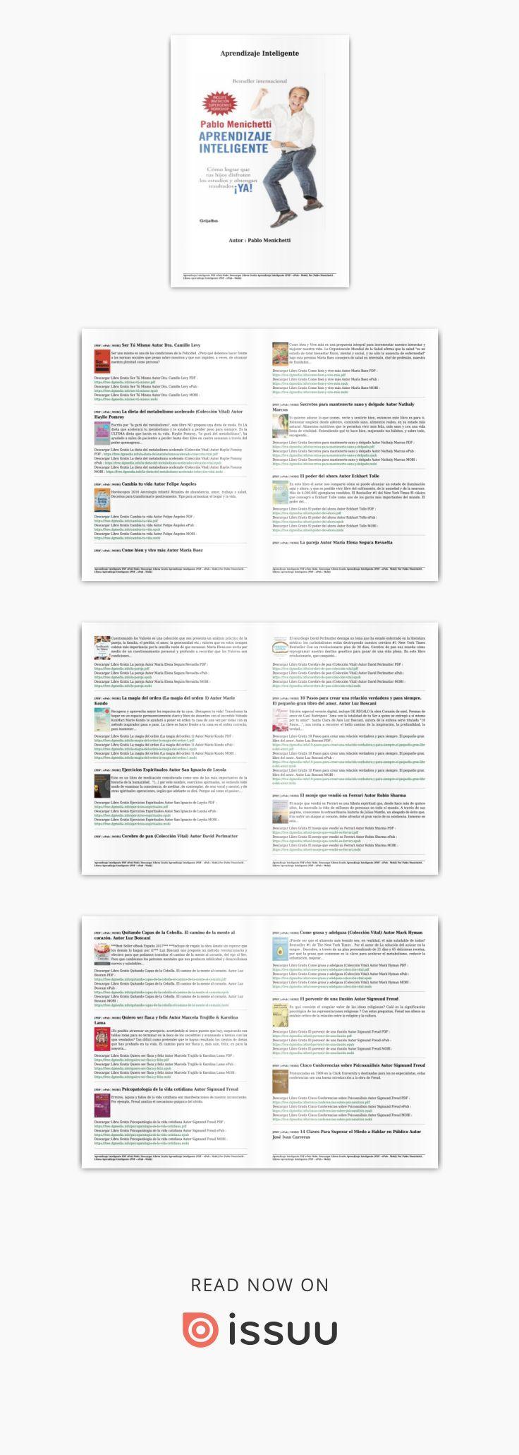 Descargar libros gratis aprendizaje inteligente (pdf epub mobi} authort pablo menichetti