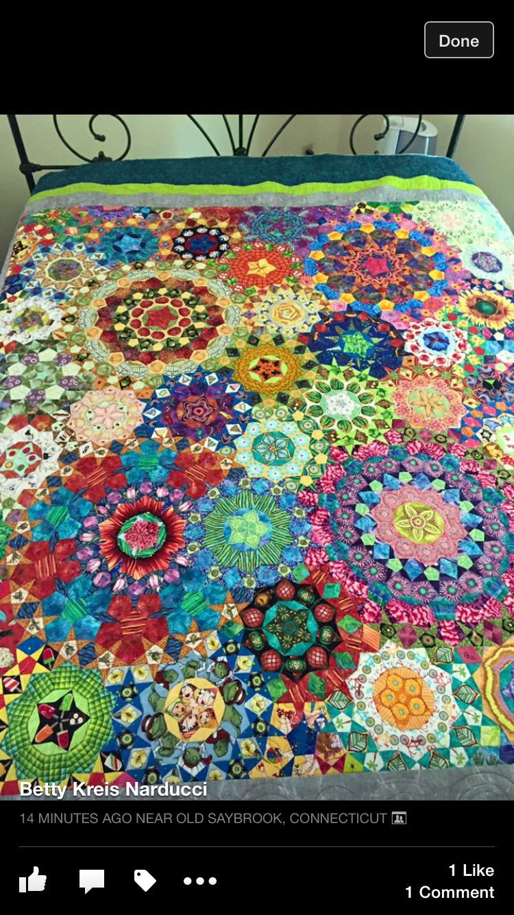 Facebook Quilts Hexagons Lucy B English Paper Piecing