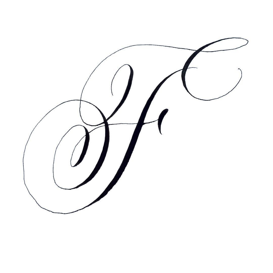 111 Likes 5 Comments Marisa Jackson Marisamade Marisa Made On Instagram F Is For Fancy Cursive Fonts Lettering Alphabet Fonts Tattoo Lettering Fonts