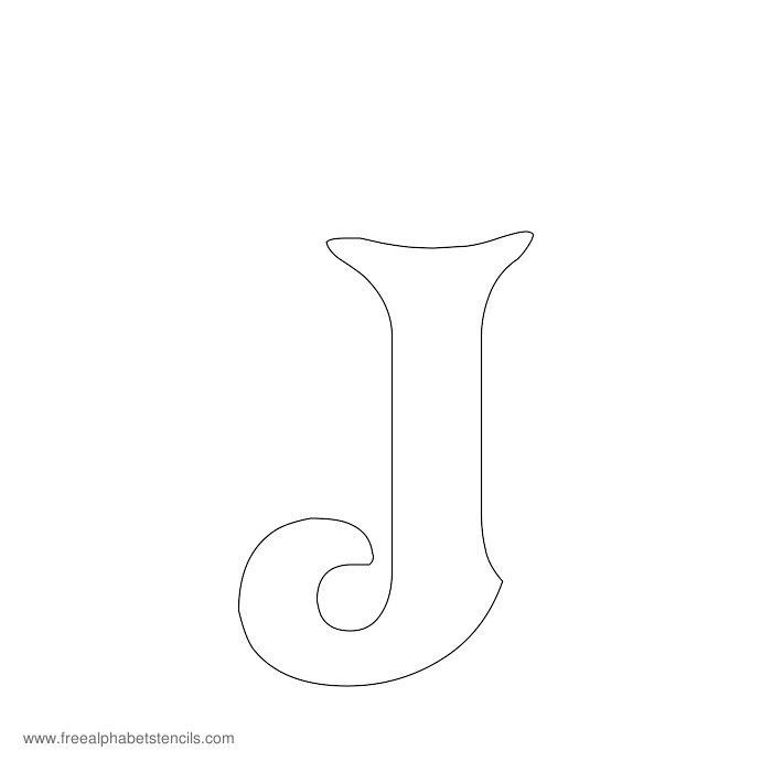 Decorative Alphabet Stencil J Letras Alphabet Stencils Stencils