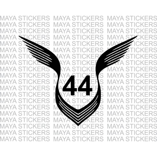 Lewis Hamilton 44 Logo With Wings Decal Stickers Tatuagem De Carro Tatuagem Tatuagens