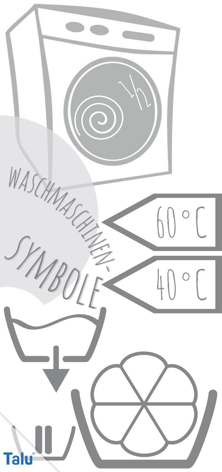 Favorit Symbole an der Waschmaschine: Bedeutung aller Zeichen | waschen LT36